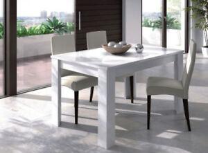 Mesa-de-comedor-extensible-2-posiciones-Blanco-Brillo-Recibidor-Cocina