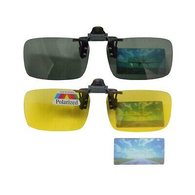 Sonnenbrillen Aufsatz Aufsteck Clip Blau oder Braun Tönung klappbar UV 400