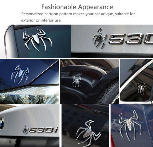 Emblem spider track 3D chrome car motor car decal sticker badge Silver