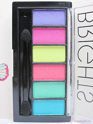 Technic 6 or 12 Colour Eyeshadow Palette Set Kit Bright Sleek Smoky Nude Pastel
