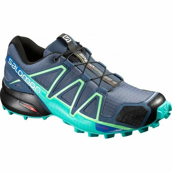 Salomon Womens Speedcross 4 Running Shoes 383104 New in Box 100% authentic Blue