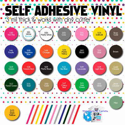 Oracal 651 adhesive vinyl 1 rolls of 12 x 20 feet ea you pick the colors you need 20 colors available Most Popular Colors