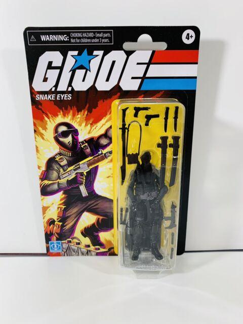 GI Joe Retro SNAKE EYES Walmart Exclusive 3.75 Hasbro 2020 Action Figure Mint