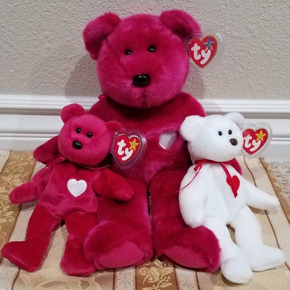 selten  ty beanie baby & mütze kumpel w   fehler - valentina   valentino hat mwmt