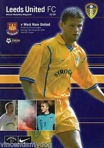 Leeds Utd vs West Ham 18112000 premier league football programme - Machynlleth, United Kingdom - Leeds Utd vs West Ham 18112000 premier league football programme - Machynlleth, United Kingdom