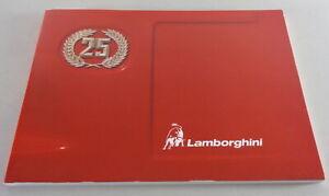 Owner's Manual Lamborghini Countach 25th anniversary LP 112 D printed 1989