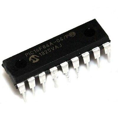 2PCS PIC16F84A-04//P PIC16F84A MICROCHIP DIP-18 EEPROM 8-Bit Microcontroller NEW
