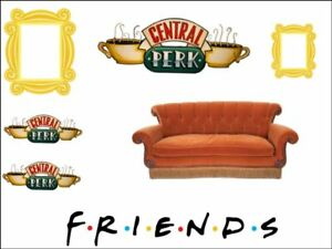 Image Is Loading Friends Central Perk Sofa Coffee Gold Frame Edible
