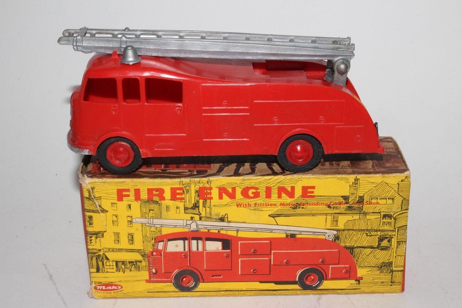 597ms Maks Juguetes, Hecho en Hong Kong Plástico Camión de Bomberos con Original