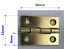 Small brass coloured hinges 30 x 23mm