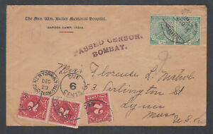 India-Sc-81-pair-on-1914-Censored-Postage-Due-cover-to-USA-J46a-x-3