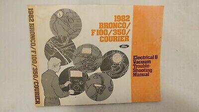1982 Ford Dealer Electrical & Vacuum Diagram Manual Bronco ...