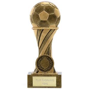 A1716d Résine Football Trophy Taille 21.5 Cm Gravure Gratuite-afficher Le Titre D'origine Prix De Rue