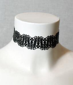 Latex Fine Lace Cut Collar post-fetish goth rubber gummi Handmade in the UK