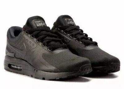 Nike Air Max Zero Essential Men's 13 Black Triple Black Sneakers 876070 006 New | eBay