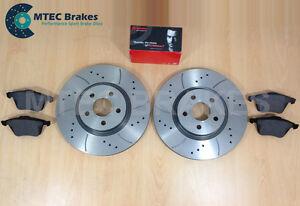 FORD-FOCUS-ST225-2-5-mtec-fores-rainure-disques-de-Frein-Avant-amp-Plaquettes-BREMBO