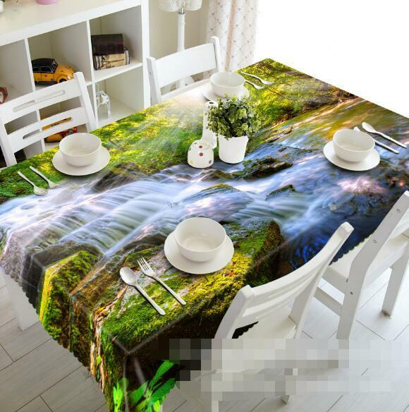 3D Flowing Creek Tablecloth Table Cover Cloth Birthday Party Event AJ WALLPAPER