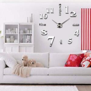 ... -wand-uhr-wohnzimmer-wanduhr-spiegel-edelstahl-wandtattoo-deko-xxl-3D