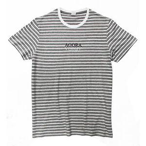 567921be1e Agora Roman Striped Tee T Shirt Top polo palace asap gosha guess NEW ...