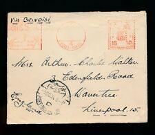 EGYPT 1934 METER FRANKING STAPLEDON MARITIME AGENTS to LIVERPOOL