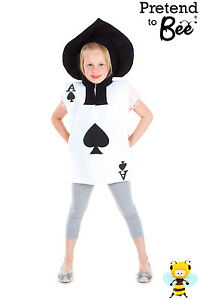 GIRLS-BOYS-KIDS-CHILDRENS-PLAYING-CARD-ALICE-IN-WONDERLAND-COSTUME-AGE-3-4-5-6-7