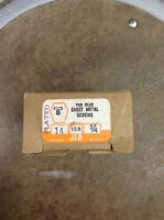 100 Plus Pan Head Slotted Sheet Metal Screws 14 X 3/4