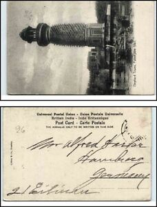 Indien-India-Vintage-Postcard-1910-Elephant-Tower-in-Futtehpore-Sikri-alte-AK