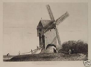 Richard-Parkes-Bonington-Moulin-Saint-Jouin-Windmill-Mill-Muller-Flour-Grain