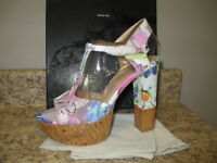 Dolce Vita baxter Platforms Floral Multi 9 M Leather With Box