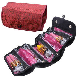 Image Is Loading Travel Cosmetic Organizer Bag Roll Up Makeup