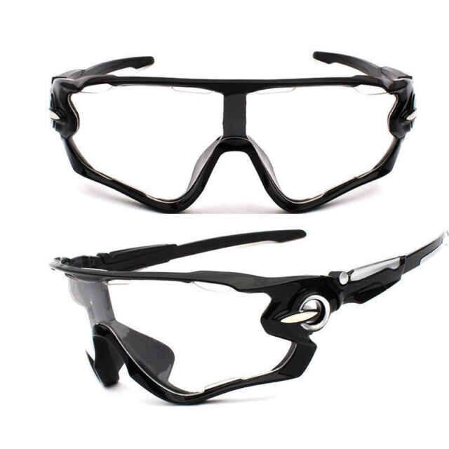 Sunglasses Clear Black Mountain Bike Cycling Helmet Sun Glasses
