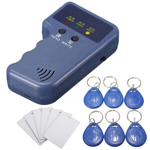 Handheld 125Khz RFID ID Card Copier Reader/Writer + 6 Writable Tags + 6 Cards