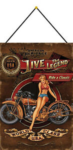 Live-The-Legend-Pin-up-Girl-Sign-with-Cord-Metal-Tin-7-7-8x11-13-16in-FA0243-K