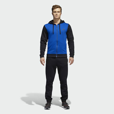 3 Stripes Hooded Track Top in Cotton Mix