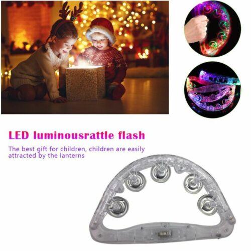 Christmas Sensory Led Light Up Flashing Tambourine Shaking Sensory Toy