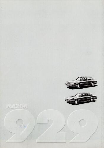 MAZDA 929 Berlina Coupé prospetto 1984 8//84 auto prospetto brochure broschyr auto