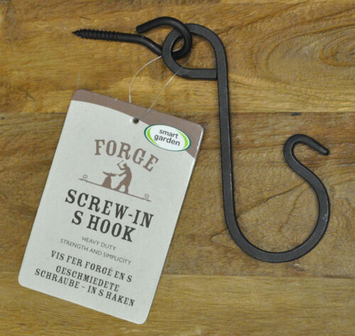 Forge S Hook Heavy Duty for Hanging Baskets /& Bird Feeders By Smart Garden