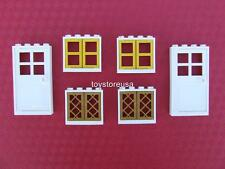 New Lego City Friends Belville Town House 2 Doors and 4 Windows Parts / Pieces