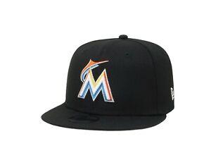 New Era 9Fifty Cap Kids Boys MLB Team Miami Marlins Basic Black Snapback Cap 950