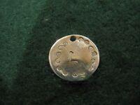 Handmade Mercury Dime Coin Love Token Letter Charm (1), Stamped, Choose Letter