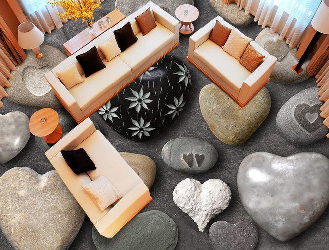 3D Stone Flowery Pattern Floor WallPaper Murals Wall Print Decal 5D AJ WALLPAPER