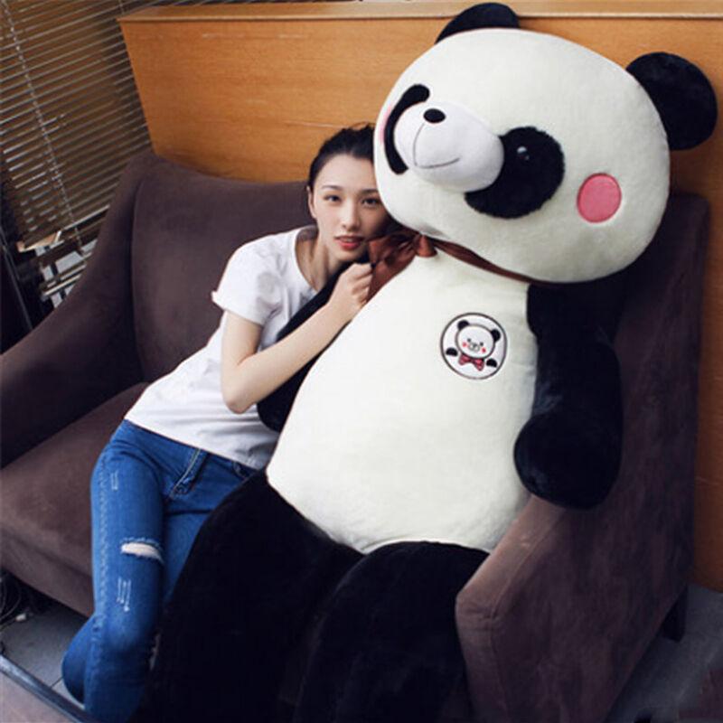 63'' Cute Panda  Big Jumbo 160Cm Cartoon Panda Plush Toy Giant Stuffed Animal