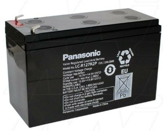 Panasonic SLA Sealed Lead Acid LC-R127R2P 12V 7.2Ah battery UPS back up