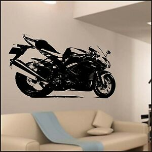 Image Is Loading Motorcycle Wall Sticker Children Sticker Kids Bedroom Home