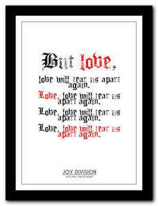 JOY-DIVISION-Love-Will-Tear-Us-Apart-2-song-lyric-poster-art-print-4-sizes