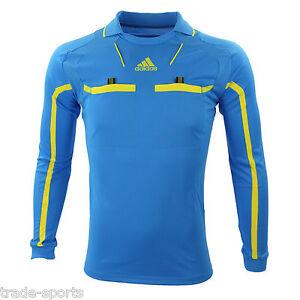 adidas-MENS-LONG-SLEEVE-REFEREE-JERSEY-SIZE-XL-SHIRT-BLUE-LINESMAN-NEW-44-46