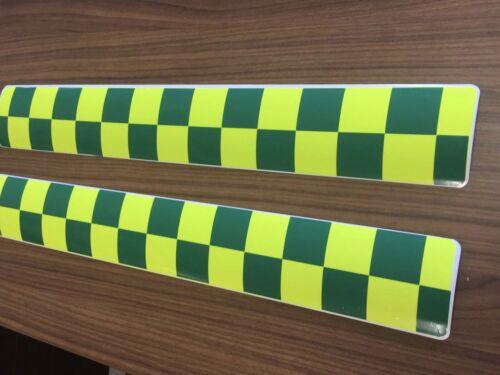 Magnético x4 Battenburg Verde Amarillo ambulancia Medic vehículo de respuesta de emergencia