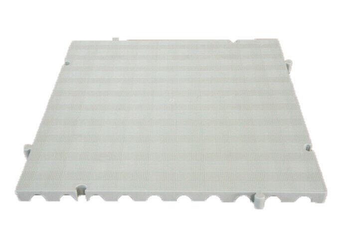 s l1600 - Náyade® Block Losa Tarima desmontable 50x50x2,5cm. Apto uso alimentario. Blanco