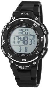 Fila-Herren-Armbanduhr-Uhr-Watch-Digital-Digitaluhr-10-ATM-Schwarz-Wasserdicht