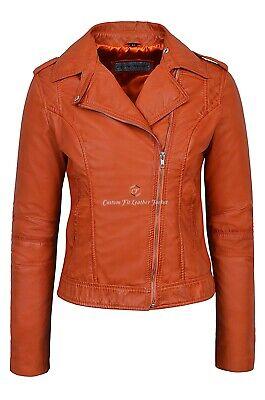 Mens Stylish Motorcycle Biker Genuine Lambskin Leather Jacket 442